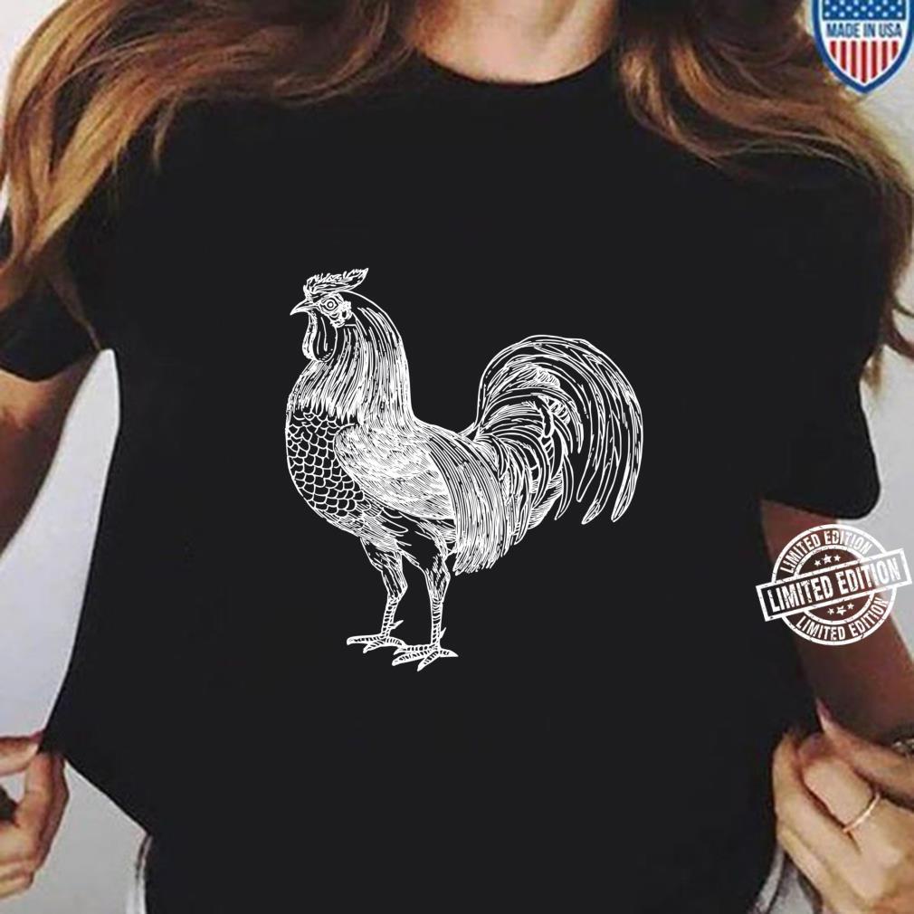 Rooster Farmer Shirt Chicken Favorite Animal Shirt ladies tee