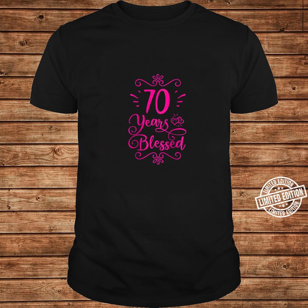 Womens 70 Years Blessed Christian 70th Birthday 70 Year Old Shirt long sleeved
