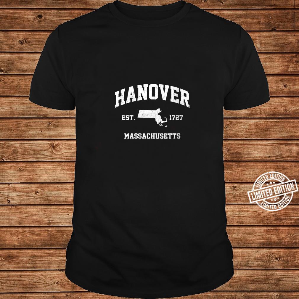 Womens Hanover Massachusetts MA vintage state Athletic style Shirt long sleeved